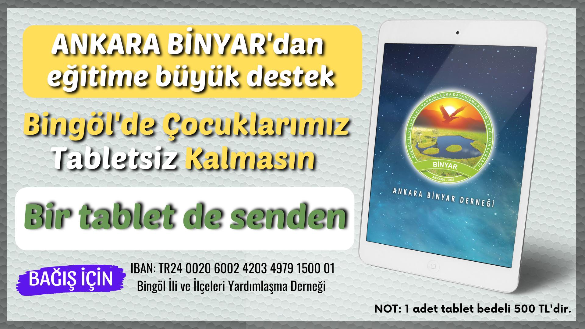 BİNYAR'dan Bir Tablet De Senden Kampanyası