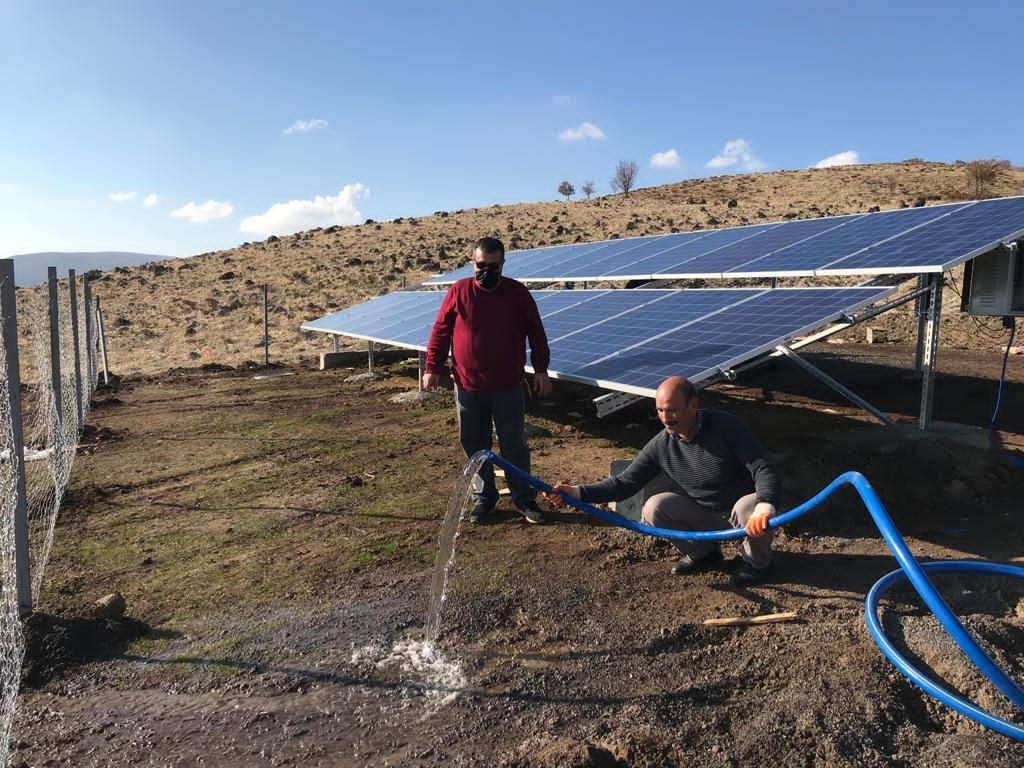 Güneş Enerjisiyle Hayvan İçme Suyu İhtiyacı Karşılanacak