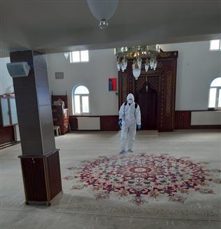 Karlıova'da Tüm Camiler Dezenfekte Edilecek
