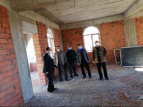 Karlıova'da Yapımı Devam Eden Caminin İnşaatı İncelendi