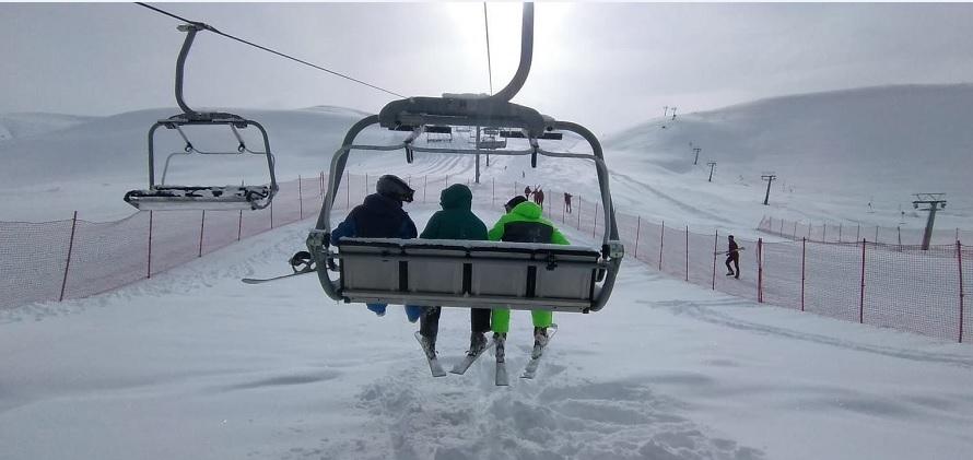 Haserek'te Kayak Sezonu Açıldı
