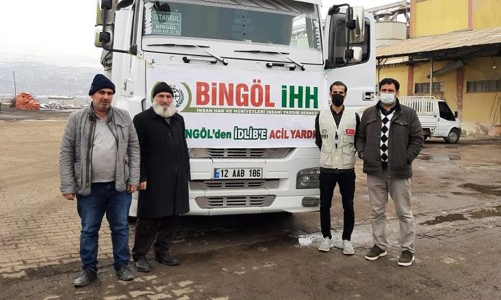 Bingöl'den Suriye'ye 30. İnsani Yardım Tırı