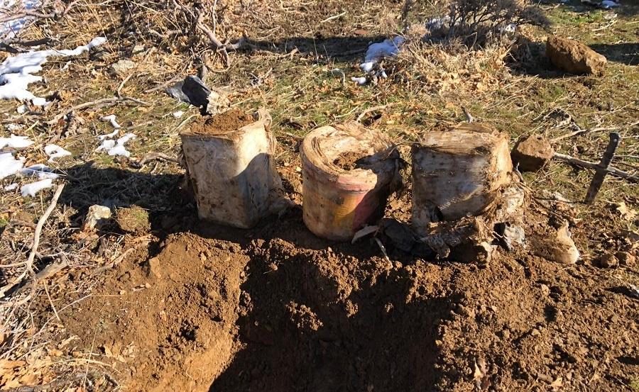 Toprağa Gömülü 60 Kilogram Eyp Tespit Edildi
