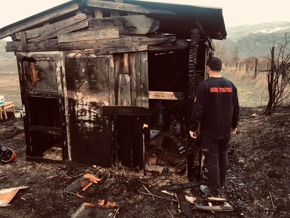 Kulübede Çıkan Yangın 4 Dönüm Anıza Sıçradı