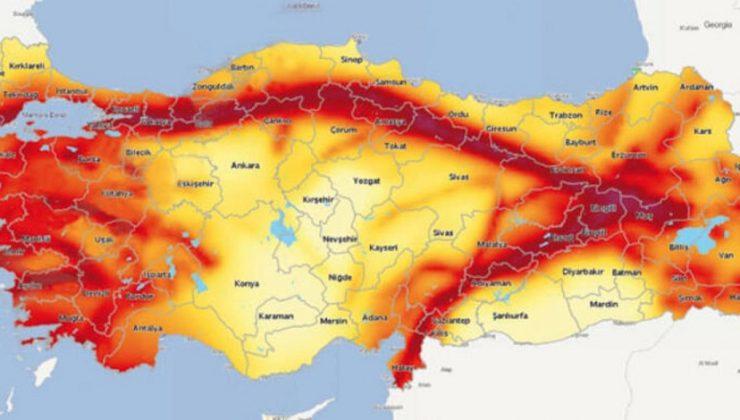 Türkiye Deprem Haritası Paylaşıldı